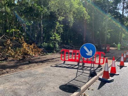 Road closures at Blackwater West Junction
